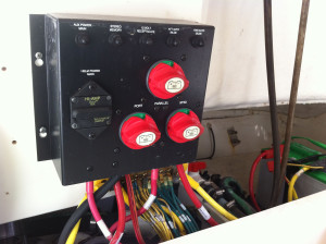 Marine Electrical Panel Battery Switches